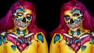 Neon Pop Art Zombie Makeup Tutorial