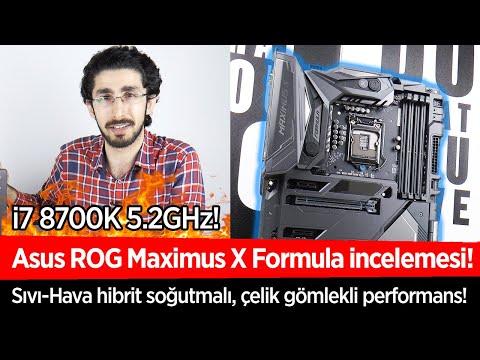 """Asus ROG Maximus X Formula Z370 incelemesi """"Sıvı soğutmalı, meraklısına anakart"""""""