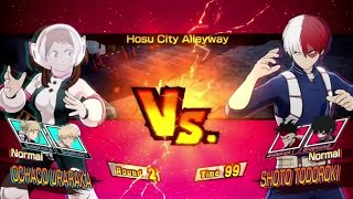 Shoto Todoroki vs Ochako Uraraka! My Heros Ones Justice PS4 Pro Gameplay #MyHeroAcademia