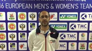 Le Parole del Direttore Tecnico Arturo Ruiz, al termine dei Campionati Europei