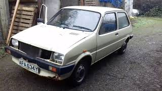 AUSTIN METRO moving it for the first time after getting it running