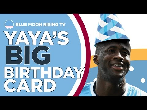 WILL YAYA TOURE ACCEPT HIS BIG BIRTHDAY CARD? | Manchester City
