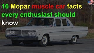 Mopar muscle car facts every enthusiast should know
