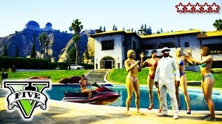 GTA 5 POOL PARTY!!! | GTA 5 Awesome Cannon Balls | Hanging With Friends On GTA