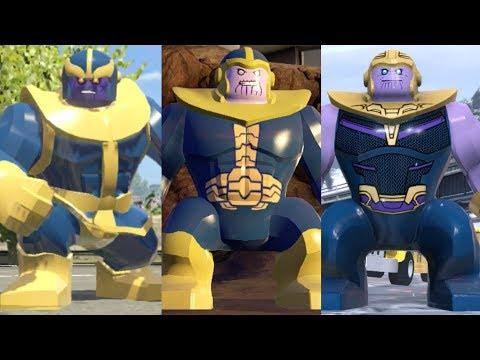 Thanos Evolution in Lego Marvel Videogames!!! (2013 - 2018)