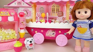 Baby Doll Ice Cream and popcorn shop toys baby Doli play