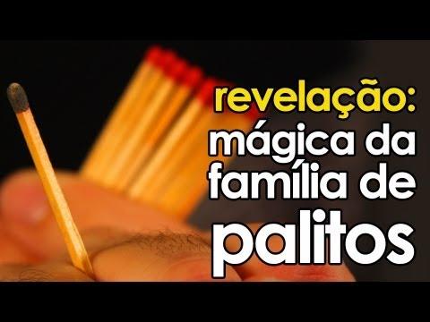Revelação da mágica da família de palitos