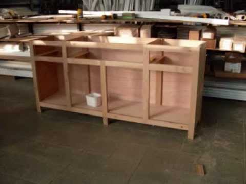 Meuble bois buffet furniture making youtube for Meuble cabine de plage en bois