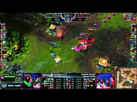 LoL IEM Cologne CLG.EU vs CJE [Game 1]