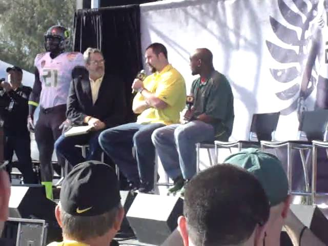 Max Unger interviewed by Dan Fouts at Oregon Ducks forum 1-09-2011
