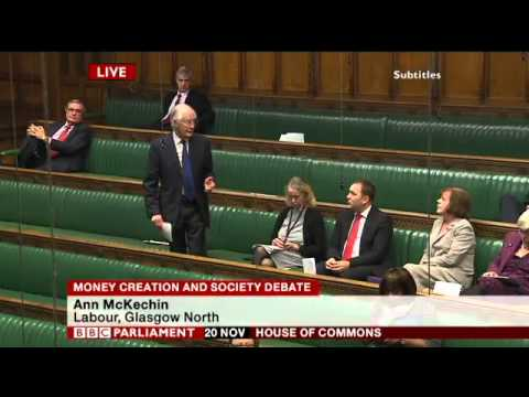'Money Creation & Society' Debate in UK Parliament