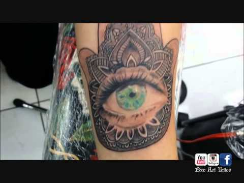 Eye Tattoo on Palm of Hand Hamsa Hand With Eye Tattoo