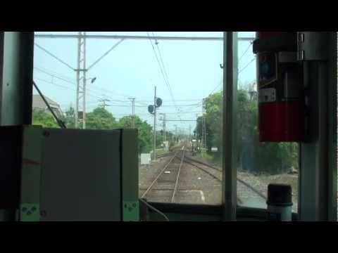 【前面展望】一畑電車。出雲大社前-浜山公園北口。松江直通電車。