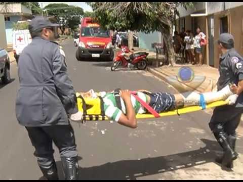 Acidente no Lagoinha envolvendo duas motocicletas deixa três feridos