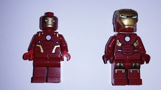 Rare Lego Iron Man Minifigure 360° view (Toy Fair 2012 Exclusive) sh027 Only 200 made