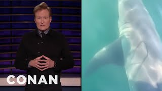 A Shark Sighting Video Redubbed With Thick Boston Accents - CONAN on TBS