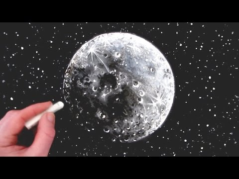 how to draw the moon narrated step by step youtube. Black Bedroom Furniture Sets. Home Design Ideas