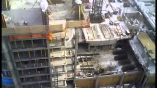 Buildup of 26 levels high-rise in Ottawa, Canada (time-lapse)