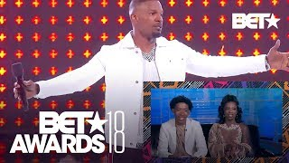De'arra & Ken Give Hype Reaction To Jay Rock's Performance Ft. Jamie Foxx | BET Awards 2018