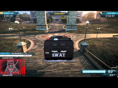 NFS Most Wanted 2012: Gold Medal Liberty Park Ambush Event w/ S.W.A.T Armored Van Pro Mods