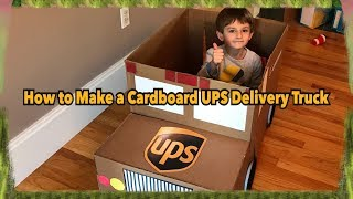 How to Make a Cardboard UPS Delivery 📦 Truck