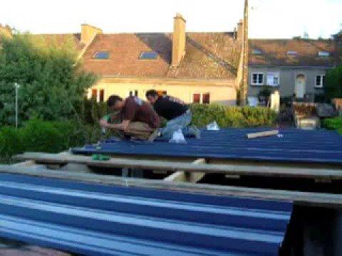 Recouvrement bac acier toiture