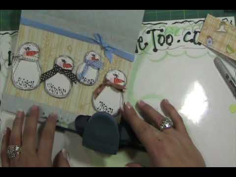 Video #57 ~ Snowman Family Christmas Card.wmv