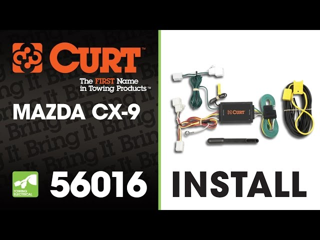 Trailer Wiring Install: CURT 56016 on a Mazda CX-9 - YouTube