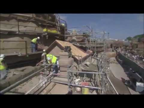 New Fantasyland Magic Kingdom Walt Disney World  Seven Dwarfs Mine Train Construction - media