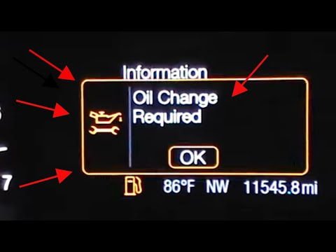 2013. 2014. 2015. 2016 Ford Fusion oil change required reset oil life