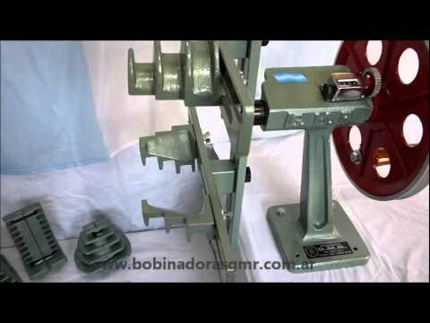 Bobinadora de Motores Manual Modelo B.M.M de siete juegos de Moldes