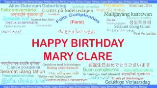 MaryClare   Languages Idiomas - Happy Birthday
