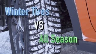 Winter tires VS All Season Tires. Proof that you need WINTER TIRES!!