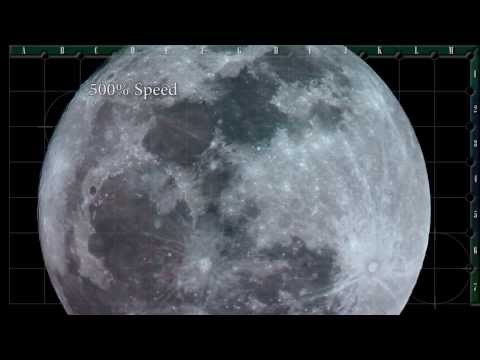UFO Filmed At The Moon For Over 1 Minute