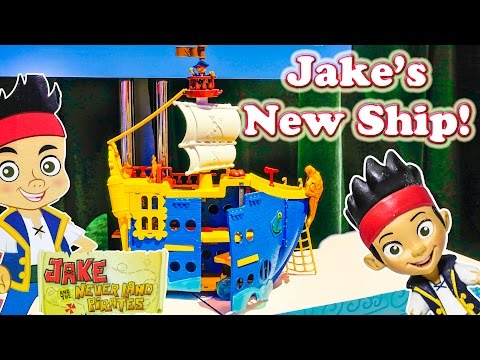 JAKE AND THE NEVER LAND PIRATES Disney Jake Captain Jake Video Toy Review