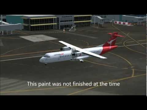 FLIGHT 1 ATR 72-500 repaints. Qantas fictional, 2 TOLL ATR 72-500 paints
