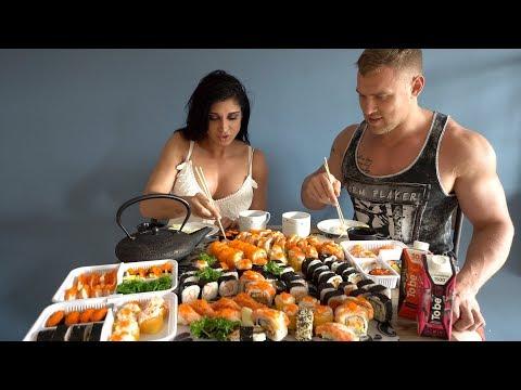 120 Суши/Роллов ЗА РАЗ. CheatMeal Challenge 2. 120 Sushi.