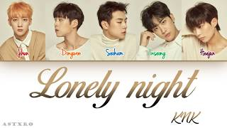 Knk 크나큰 Lonely Night Han Rom Eng Color Coded 가사