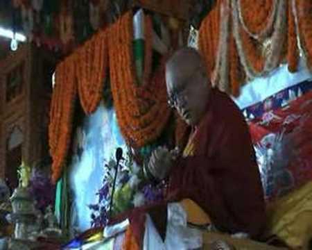 Lama Zopa Rinpoche long life puja in Kopan