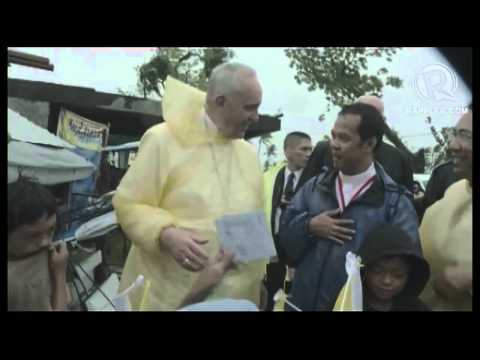 Pope Francis visits children in Leyte