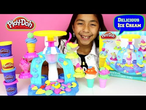 Tuesday Play Doh Swirl & Scoop Ice Cream Unbox and Review| B2cutecupcakes