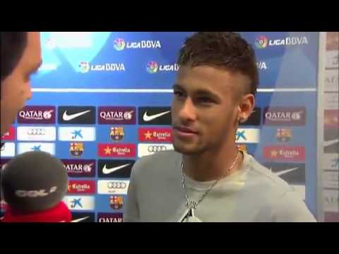Neymar interview after match FC Barcelona 4x1 Real Valladolid  05 10 2013
