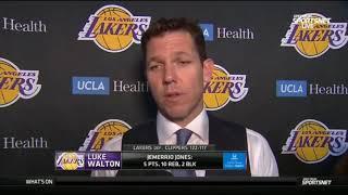 Coach Luke Walton Postgame Reaction to Lakers Win vs Clippers! April 5 2019