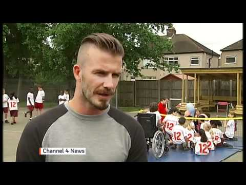 David Beckham on Paralympics, racism and Olympic flame