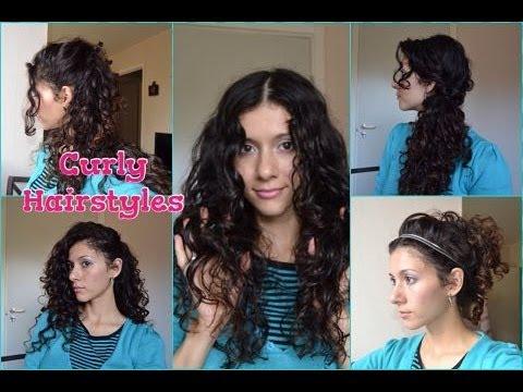 быстрые прически для вьющихся волос видео