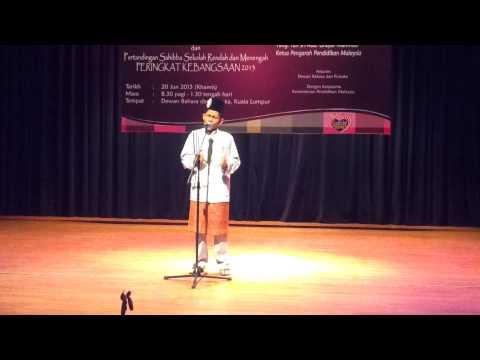 Johan Deklamasi Sajak Peringkat Kebangsaan 2013