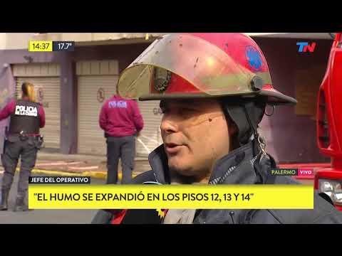 Incendio en un edificio de palermo 5 heridos