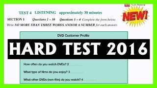 ielts listening practice test 2016 with answers Hard Exam