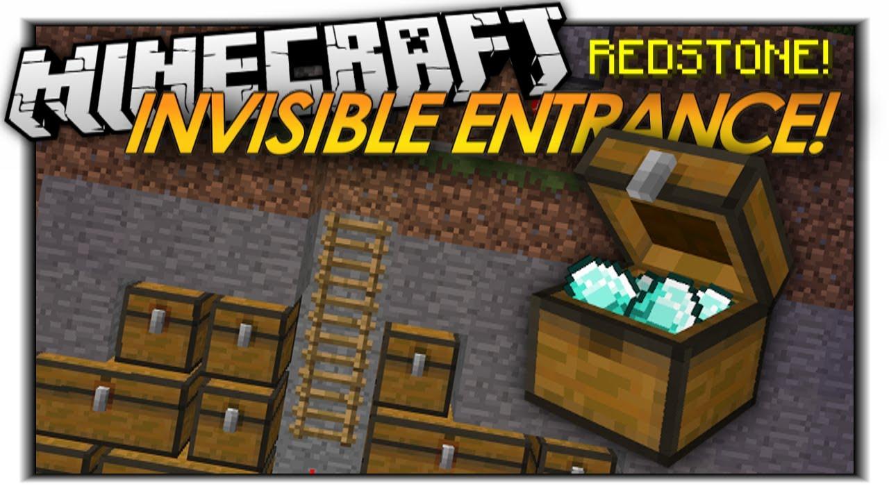 Minecraft redstone invisible entrances hidden doors for 10 ways to make a secret door in minecraft