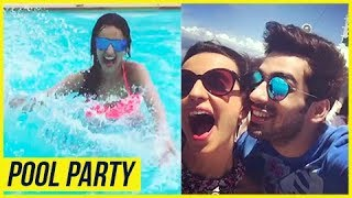 Sanaya Irani's POOL BIRTHDAY Surprise By Hubby Mohit Sehgal